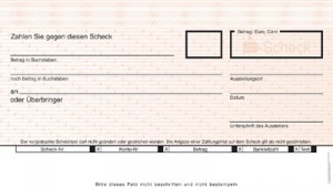 Sparkassenscheck