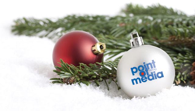 Weihnachtskugeln mit Logo