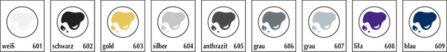 Etiketten Druckfarben Vorschau